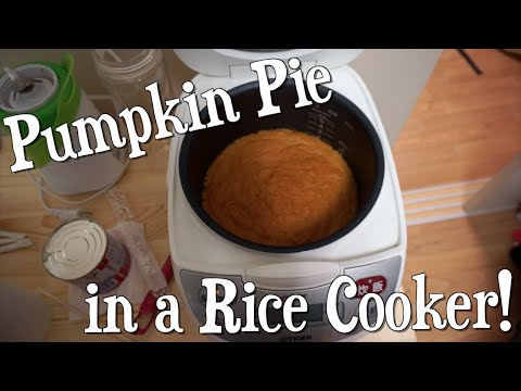 Making PUMPKIN PIE in a Rice Cooker! [Recipe]