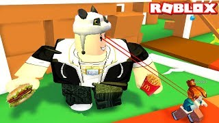 We're beting hungry men chasing people! - Roblox EAT or DIE with Panda