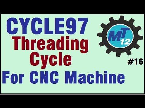 How To Make Threading Cycle97 For Cnc Machine Hindi - PakVim