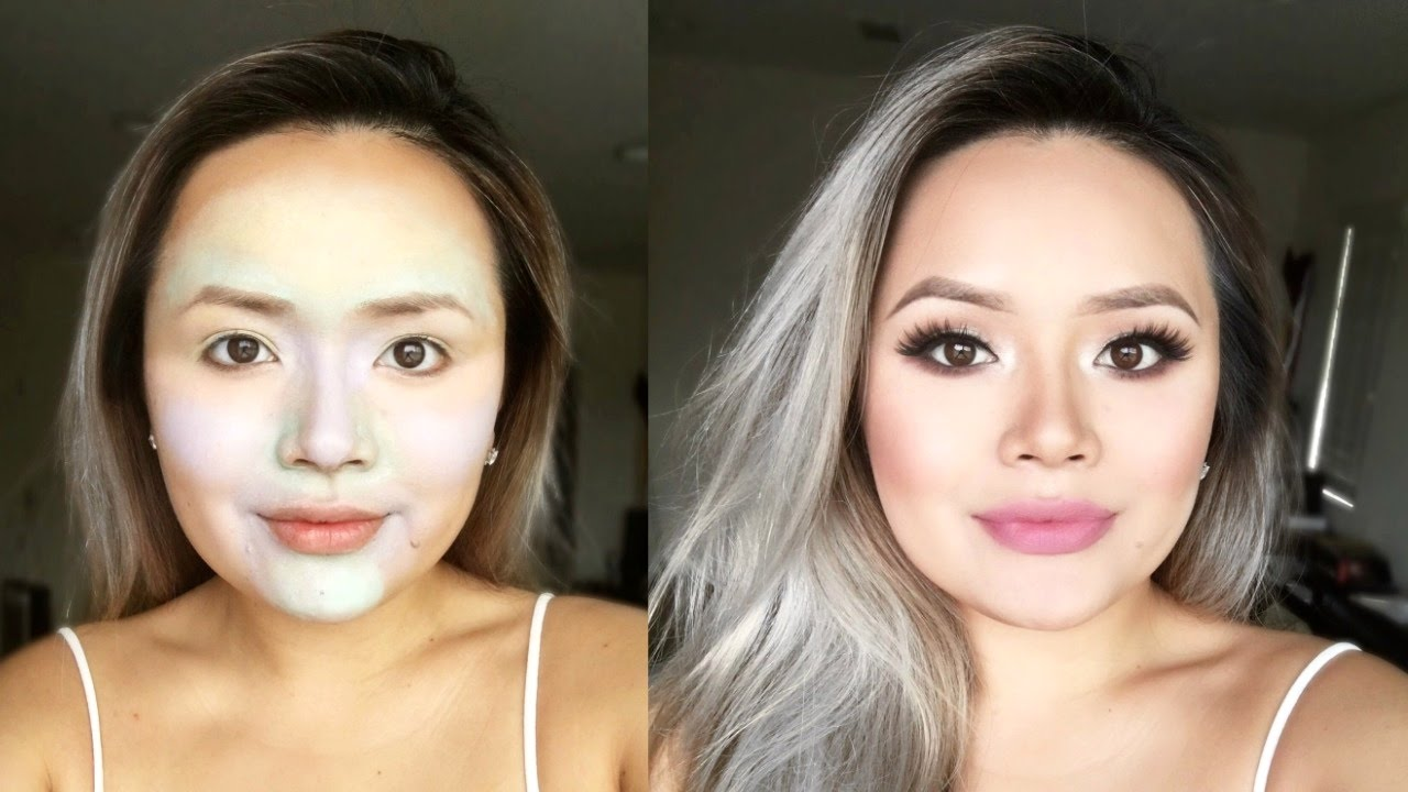 MAKEUP TRANSFORMATION! How to: Using NYX Color Correcting Concealer Palette | TiffanyLeeanne - YouTube