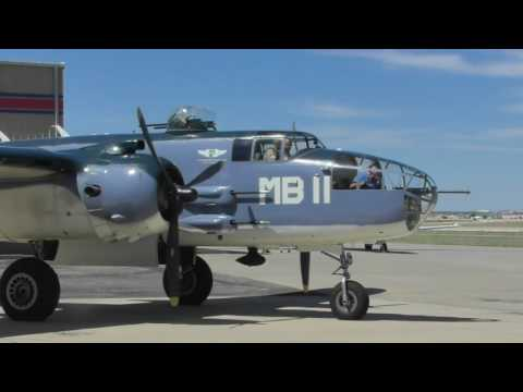 Marc Russell: Pilot B-25 PBJ Engines Start-up, Taxi And Takeoff