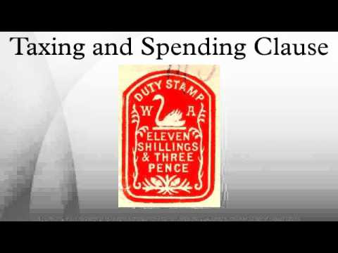 Taxing and Spending Clause