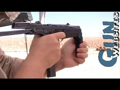 Shooting Full Auto PM 63 Polish Machine Pistol