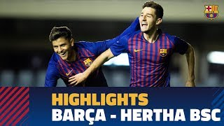 [HIGHLIGHTS] YOUTH LEAGUE: FC Barcelona 3-0 Hertha Berlin