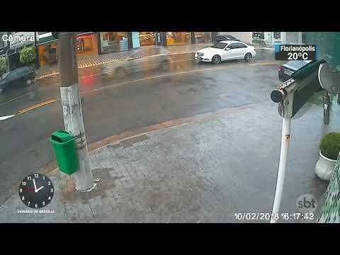 Câmeras de segurança flagram execução de gráfico na zona leste de SP | SBT Notícias (13/02/17)