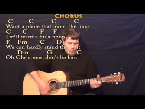 Christmas Don't Be Late - Strum Guitar Cover Lesson in C with Chords/Lyrics