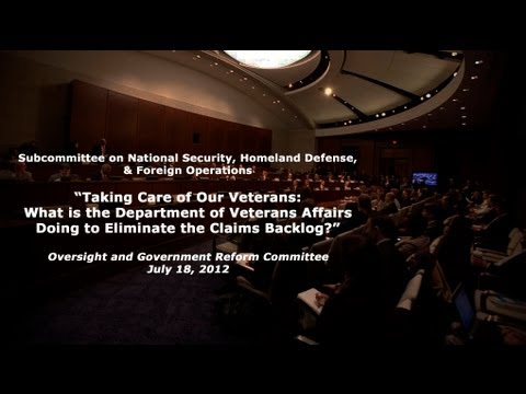 Taking Care of Our Veterans: What is the VA Doing to Eliminate the Claims Backlog?