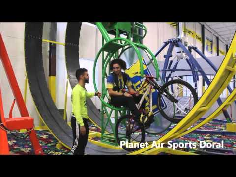 X Bike Attraction At Planet Air Sports Doral