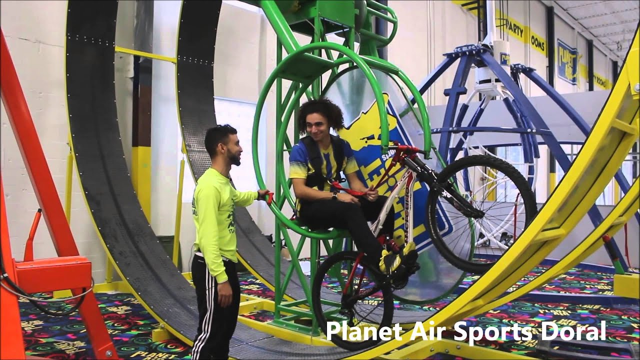 X Bike Attraction at Planet Air Sports Doral - YouTube