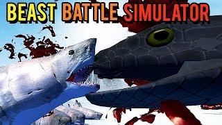 Beast Battle Simulator Gameplay German - Shark Vs. Titanoboa