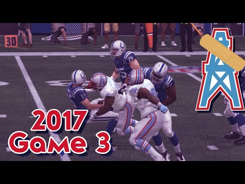 Madden 15 Franchise Mode - Houston Oilers | Season 4, Game 3 @ Colts | Defensive Battle