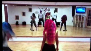"OMG Girlz rehearsing new song ""Lover Boy"""