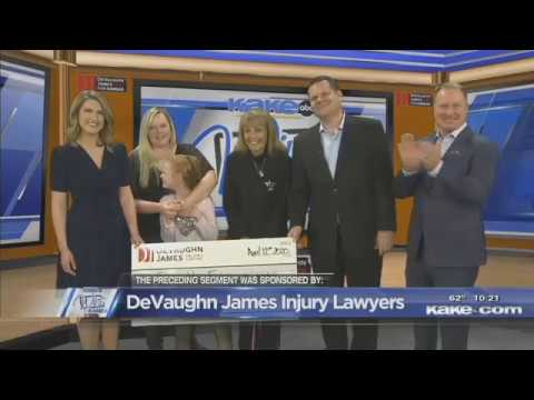 Erin is Hope Foundation - DeVaughn James Injury Lawyers WINS for Kansas