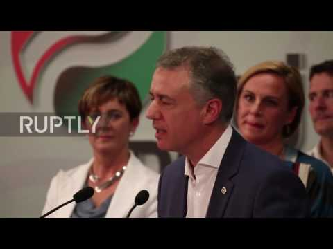 Spain: Basque Nationalist Party celebrates regional election
