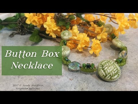 Button Box Necklace-Sentimental Memory Jewelry Tutorial