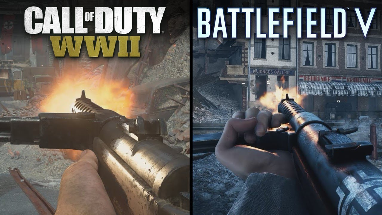 Battlefield V Vs Call Of Duty Wwii Direct Comparison Youtube
