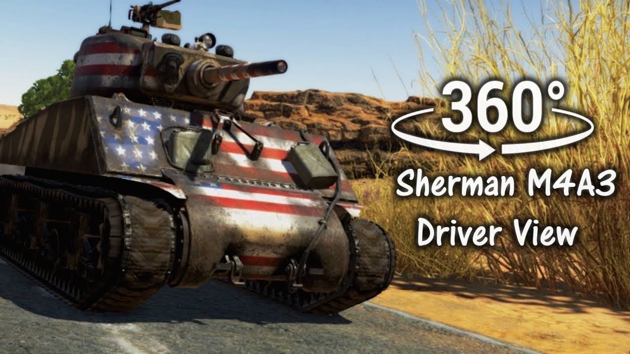 360°| Sherman Tank Driver View Experience - War Thunder SFM (VR Compatible) - YouTube
