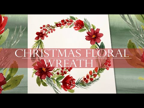 *NEW* Watercolor Painting/ Floral Friday #02/ Christmas Floral Wreath Demo #watercolorpainting #xmas