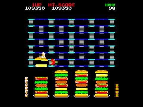 Arcade Game: Burger Time (1982 Data East) (DECO Version)