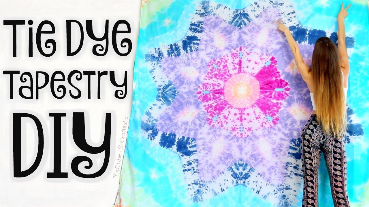 Diy Tapestry Mandala Bed Sheets Tie Dye Star Technique Socraftastic Youtube