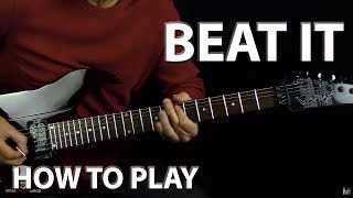 How to Play Beat It Michael Jackson - Guitar Lesson