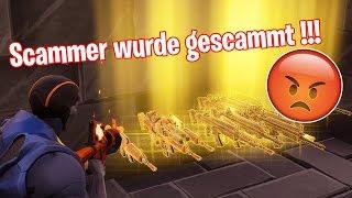 SCAMMER WURDE GESCAMMT!!! ER DROHT MIR! | Fortnite