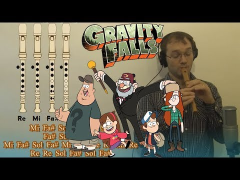 Gravity Falls OPENING - Recorder Tutorial - Sheetmusic & Backing Track in Patreon