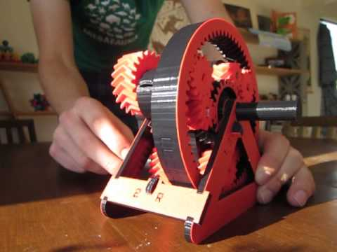 3D Printed Automatic Transmission Model - YouTube