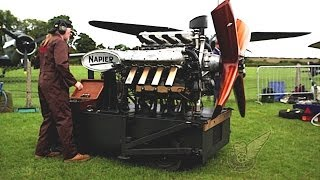 Engine: Napier Lion 12-cylinder broad arrow