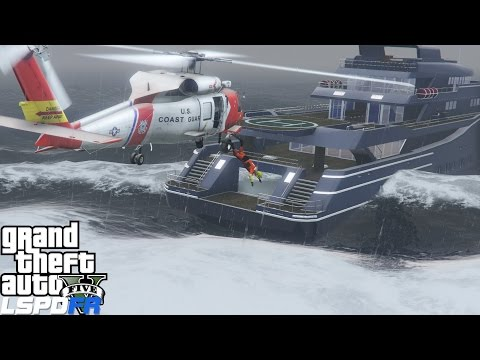 GTA 5 LSPDFR USCG Coastal Callouts |Riskiest Rescue Yet| Sinking Yacht Taking On Water In High Waves