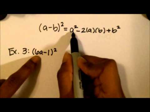 Special Products Multiplying Polynomials