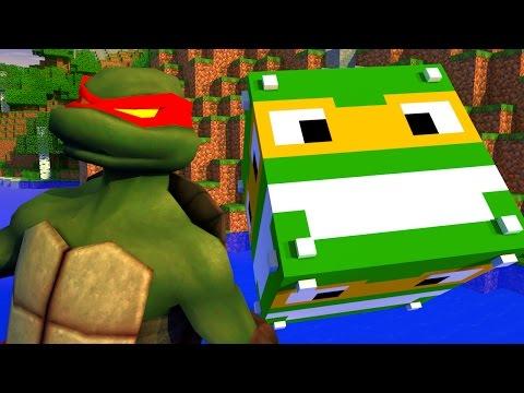 Minecraft - PIRAMIDE INVERTIDA DE LUCKY BLOCK - TARTARUGAS NINJAS - MINI GAME PVP