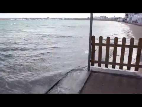 Subida del nivel del mar, oleaje y viento (01/03/2018)