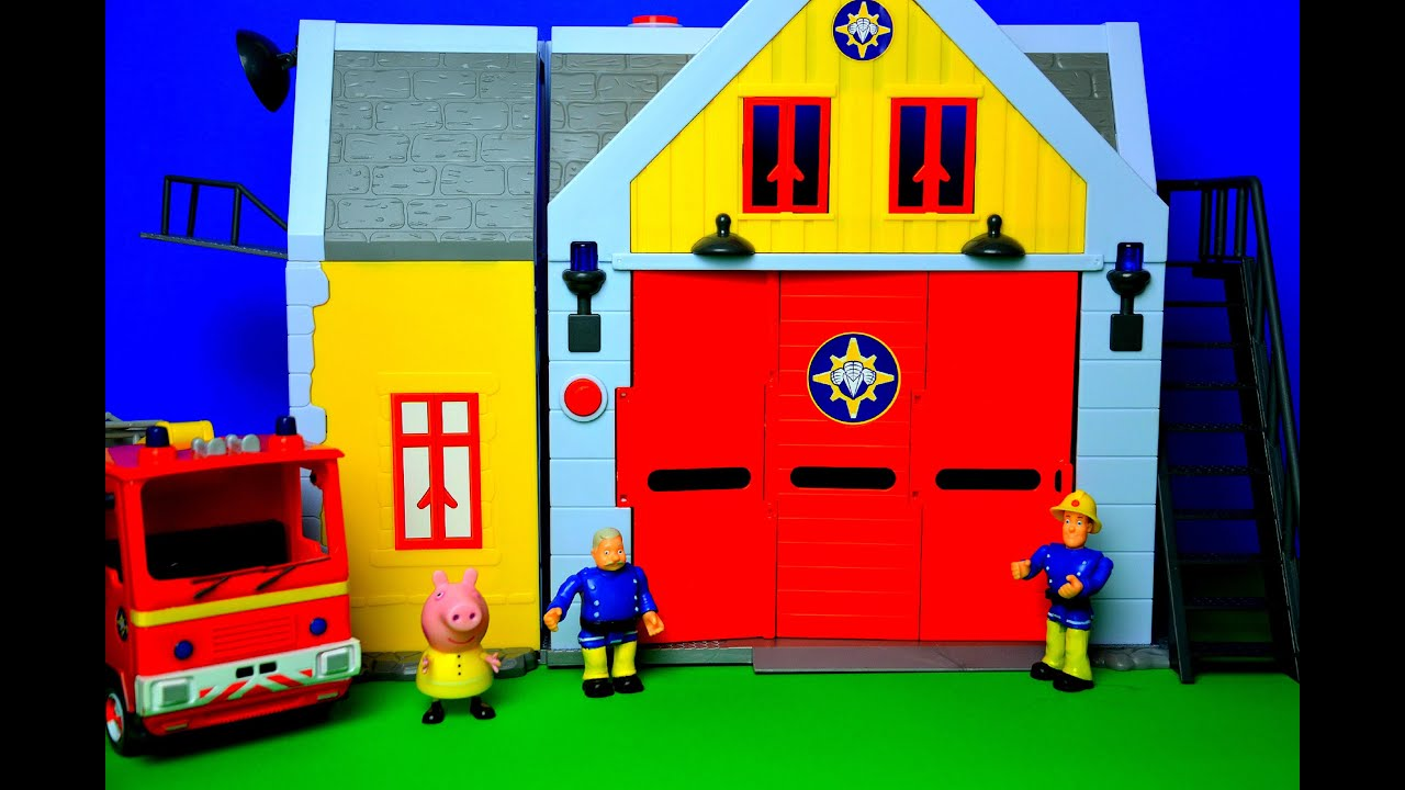 New Fireman Sam Fire Station Episode Pontypandy Peppa Pig ...