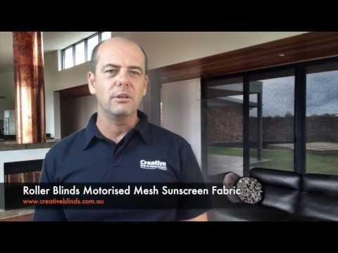 Creative Blinds & Awnings Motorised Sunscreen Roller Blinds Ballina Lismore Byron Bay