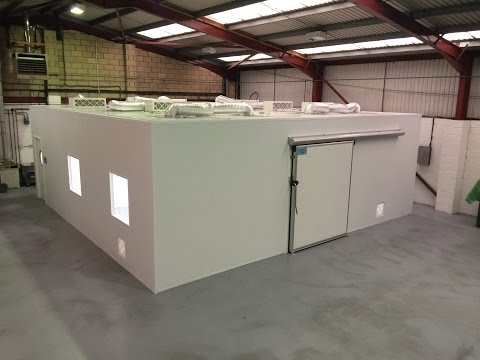 ISO Class 7 Modular Cleanroom Time-lapse built by Monmouth Scientific