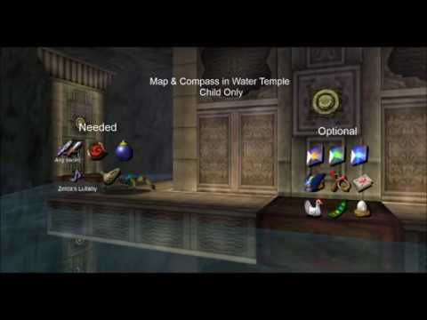 Map & Compass in Water Temple as Child
