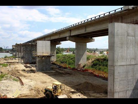 Izgradnja Ostružničkog mosta - maj 2017.