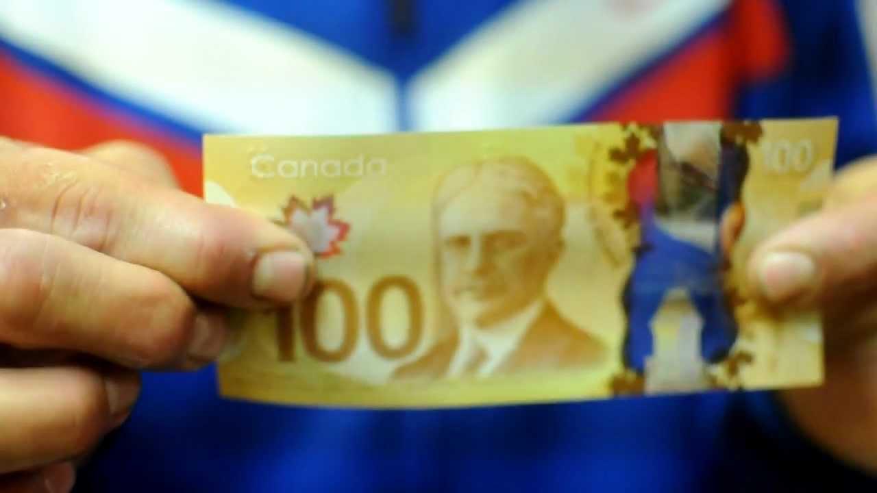 Canada S New 100 Hundred Dollar Bill Waterproof Plastic