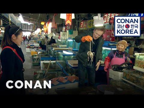 Conan Visits Noryangjin Fish Market