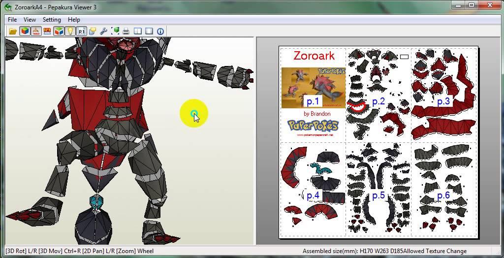 Zoroark PaperCraft Review
