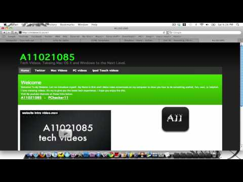 How To Make A Free HTML Website On A Mac Or A PC. (Part 1 Of 2)