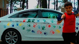 Kids Learn Colors With Finger Paint On The Car And Finger Family Nuresry Rhymes Songs For Kids