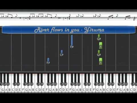Piano piano keys and chords : River flows in you tutorial 60% speed - Yiruma piano tutorial with ...