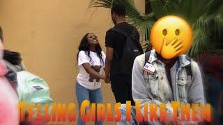 TELLING GIRLS I LIKE THEM PRANK!!!!! *she gave me her number 🙃*
