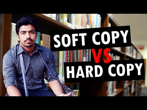Difference Between Soft Copy & Hard Copy | Hard copy Vs Soft Copy | [Explained]