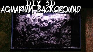 DIY 3d aquarium background