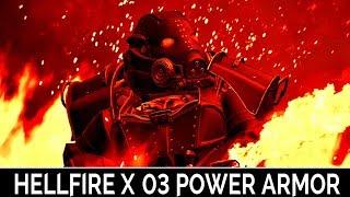 Fallout 4: ▶️Hellfire X-03 Power Armor◀️ Mini Mod Showcase