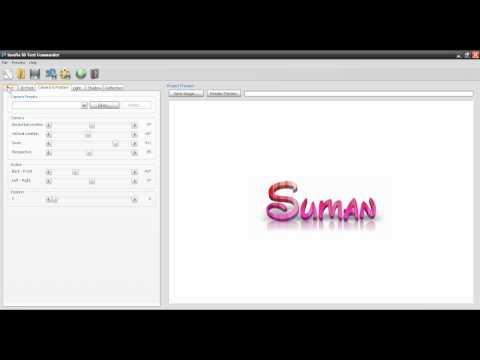 Insofta 3D Text Commander Tutorial - By Suman Gawde
