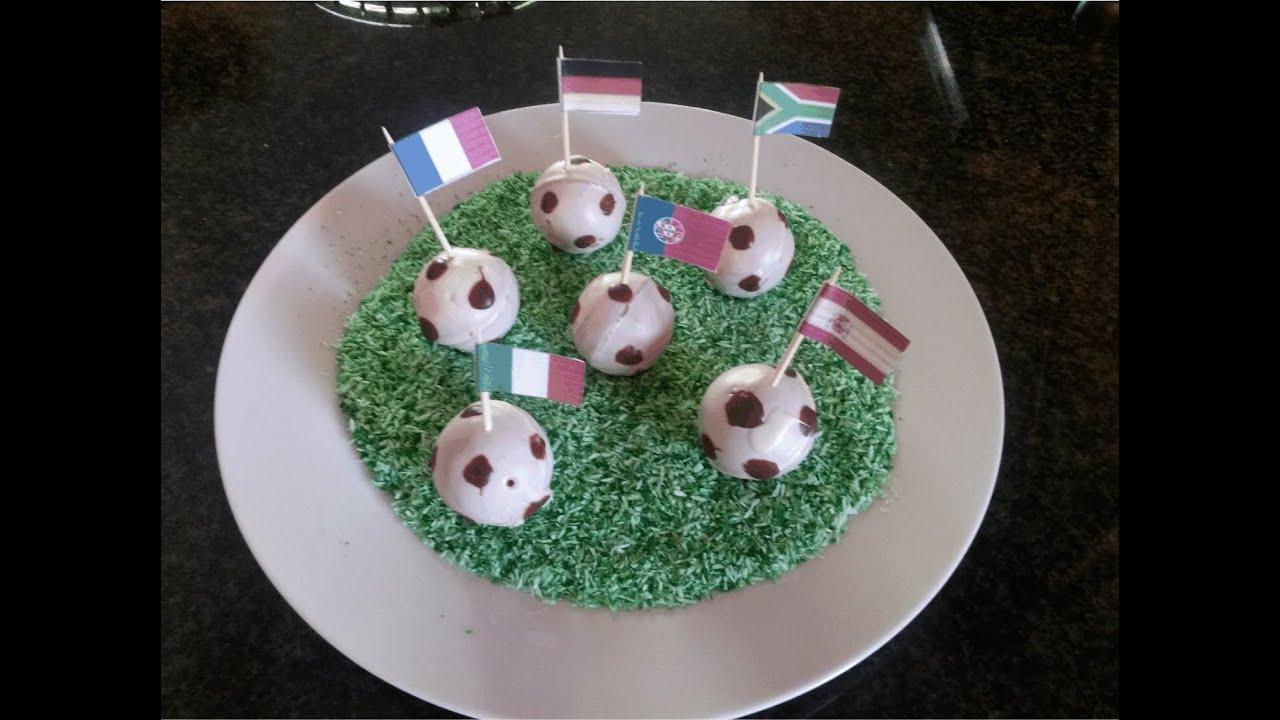 Football Cake Pops Youtube